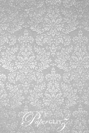 Handmade Embossed Paper - Embossed Grace Silver Pearl A4 Sheets