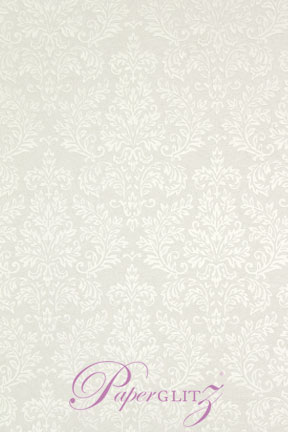 Petite Glamour Pocket - Embossed Grace White Pearl