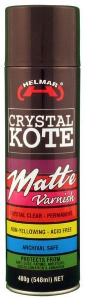 Helmar Crystal Kote Matte Varnish Spray - 400g