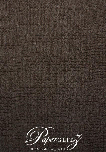 Handmade Embossed Paper - Jute Chocolate Pearl A4 Sheets