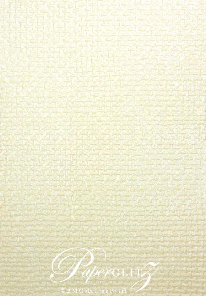 Glamour Pocket DL - Embossed Jute Ivory Pearl