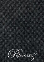 120x175mm Flat Card - Kendal Buckram Black Linen