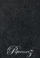 Kendal Buckram Black Linen 270gsm Card - A4 Sheets