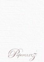 120x175mm Scored Folding Card - Knight White Linen