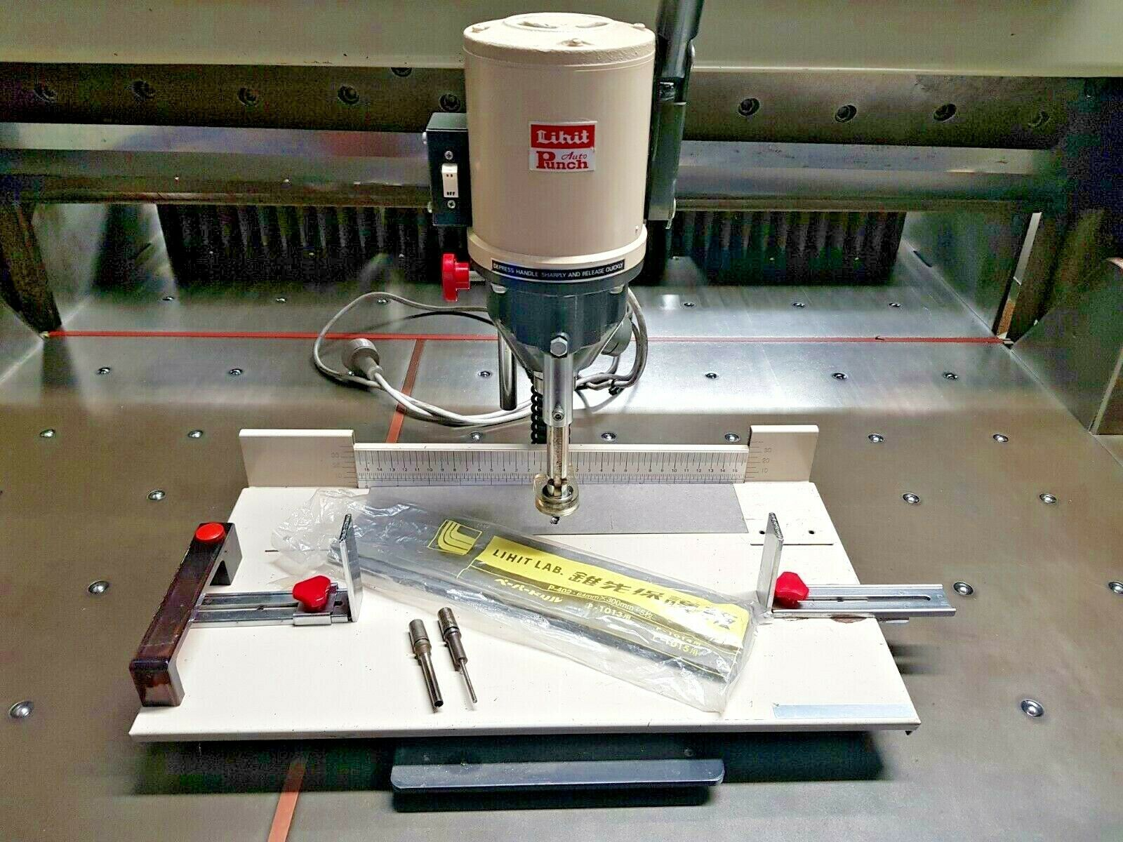 Lihit 1013 Auto Punch High Precision Electric Paper Drill + Extras