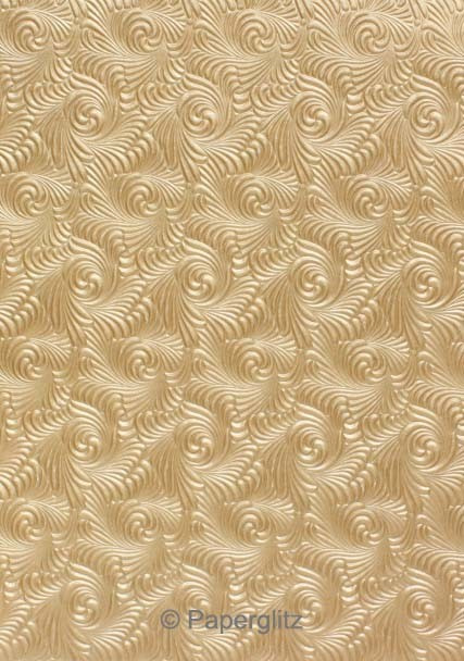 Glamour Pocket 150mm Square - Embossed Majestic Swirl Mink Pearl