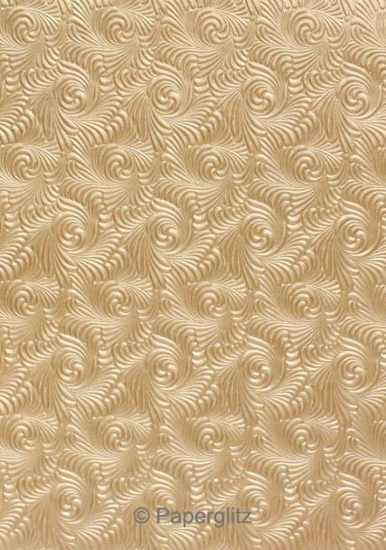 Handmade Embossed Paper - Majestic Swirl Mink Pearl Full Sheet (56x76cm)