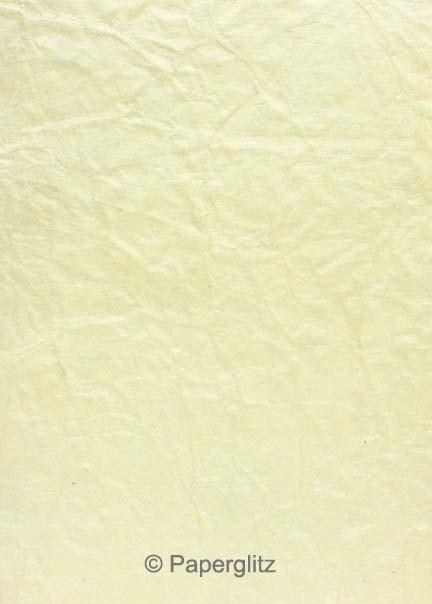 Handmade Embossed Paper - Crinkle Ivory Pearl - Strips 49.5x300mm 25Pck