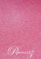 14.85cm Square Flat Card - Stardream Metallic Azalea