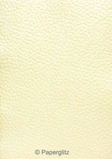 Handmade Embossed Paper - Modena Ivory Pearl A4 Sheets