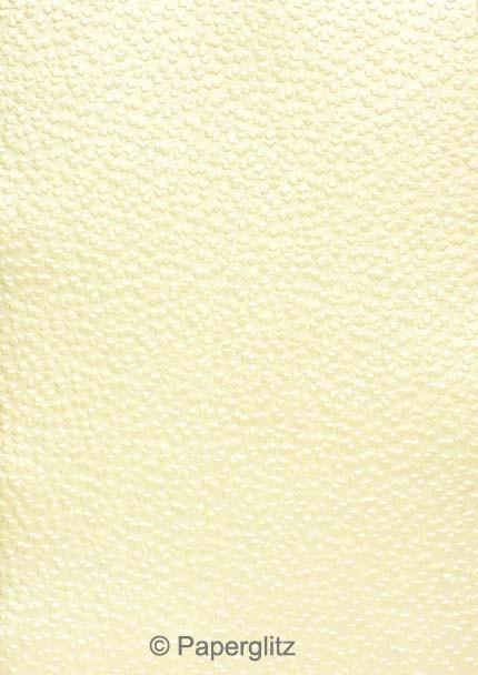 Handmade Embossed Paper - Modena Ivory Pearl Full Sheet (56x76cm)