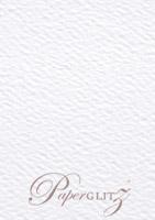 13.85x20cm Flat Card - Mohawk Via Felt Bright White