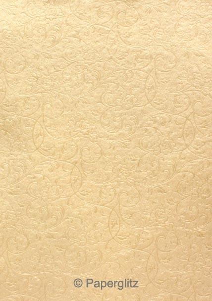 Glamour Pocket 150mm Square - Embossed Olivia Mink Pearl