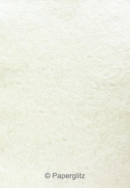 Petite Glamour Pocket - Embossed Olivia White Pearl