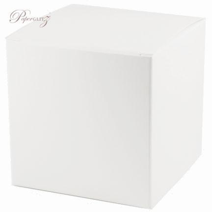 10cm Cube Box - Semi Gloss White