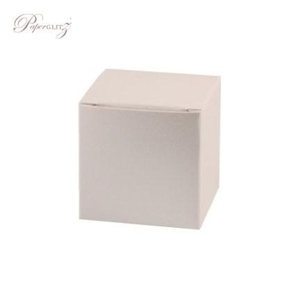 5cm Cube Box - Crystal Perle Metallic Sandstone