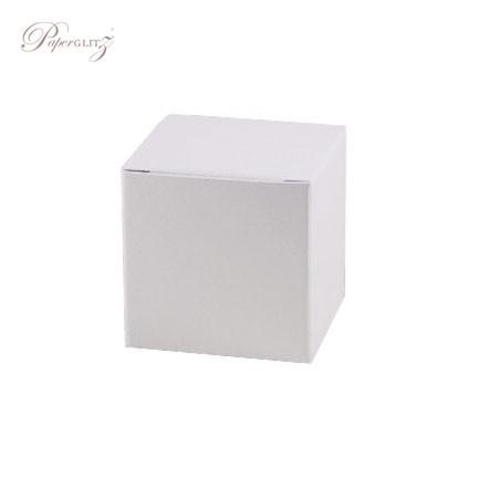 5cm Cube Box - Curious Metallics Ice Gold