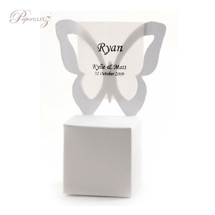 Chair Box - Butterfly - Crystal Perle Metallic Diamond White