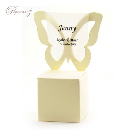 Chair Box - Butterfly - Curious Metallics White Gold