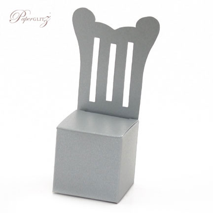Chair Box - Throne - Crystal Perle Metallic Steele Silver