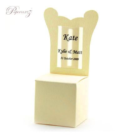 Chair Box - Throne - Curious Metallics White Gold