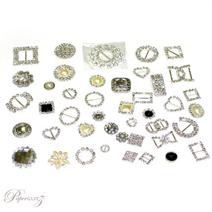 Sample Pack - Diamante Buckles, Clusters & Buttons