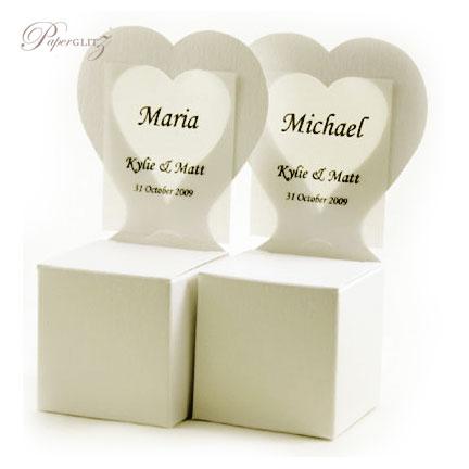Chair Box - Heart - Crystal Perle Metallic Arctic White