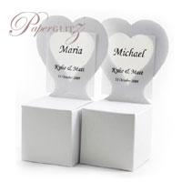 Chair Box - Heart - Crystal Perle Metallic Diamond White