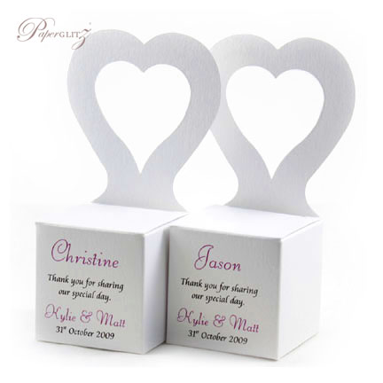 Chair Box - Heart - Curious Metallics Ice Gold