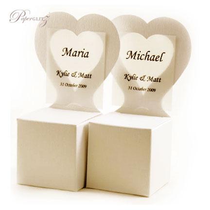 Chair Box - Heart - Crystal Perle Metallic Sandstone