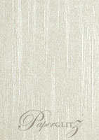 C6 Tear Off RSVP Card - Pearl Textures Collection Embossed Silk
