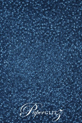 Glamour Add A Pocket 14.85cm - Embossed Pebbles Peacock Navy Blue Pearl