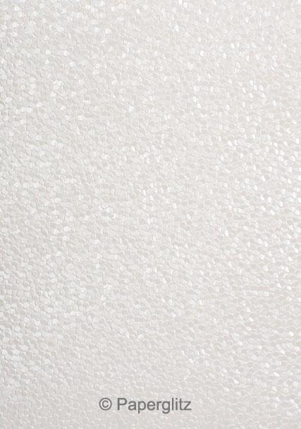 Handmade Embossed Paper - Pebbles White Pearl Full Sheet (56x76cm)