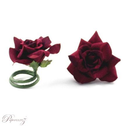 Velvet Mini Roses - Red - 9Pck