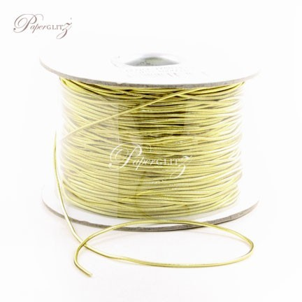 1mm Stretch Cord - 100Mtr Roll - Metallic Gold