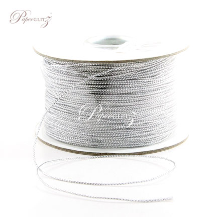 1mm String - 200Mtr Roll - Metallic Silver