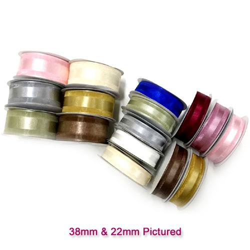 38mm Satin Centred Organza Ribbon