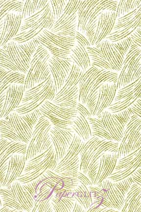 Glamour Add A Pocket 14.85cm - Glitter Print Ritz White Pearl & Gold Glitter