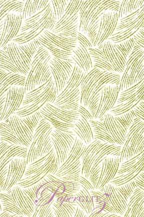Handmade Glitter Print Paper - Ritz White Pearl & Gold Glitter Full Sheets (56x76cm)