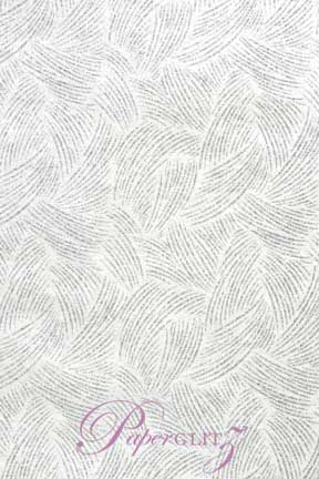 Glamour Pocket 150mm Square - Glitter Print Ritz White Pearl & Silver Glitter