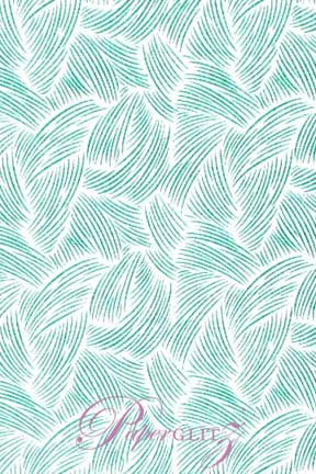 Petite Glamour Pocket - Glitter Print Ritz White & Teal Blue Glitter