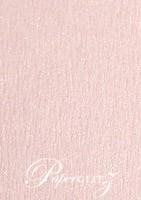 120x175mm Scored Folding Card - Rives Ice Pink