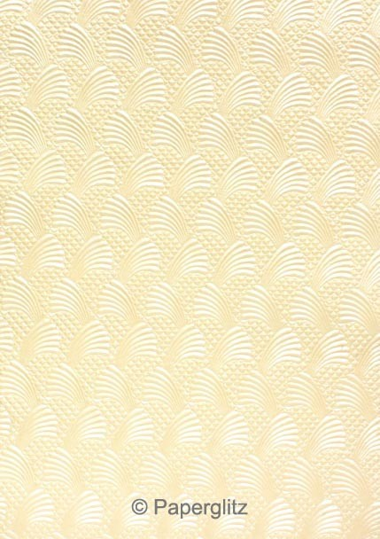 Handmade Embossed Paper - Sea Breeze Ivory Pearl A4 Sheets (125 Sheet Special)