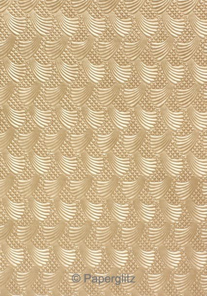 Handmade Embossed Paper - Sea Breeze Mink Pearl A4 Sheets