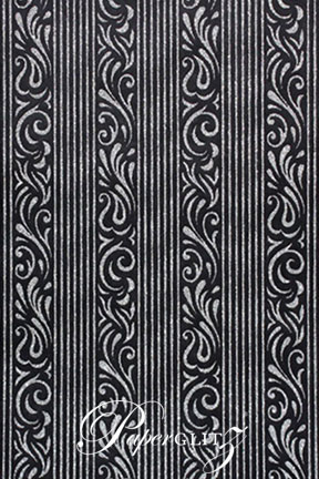 Handmade Chiffon Paper - Serenity Black & Silver Glitter Full Sheets (56x76cm)