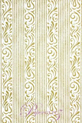 Handmade Chiffon Paper - Serenity White & Gold Glitter Full Sheets (56x76cm)