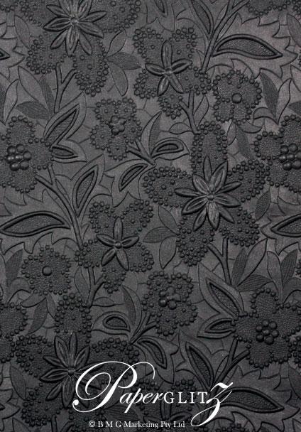 Handmade Embossed Paper - Spring Black Pearl Full Sheet (56x76cm)