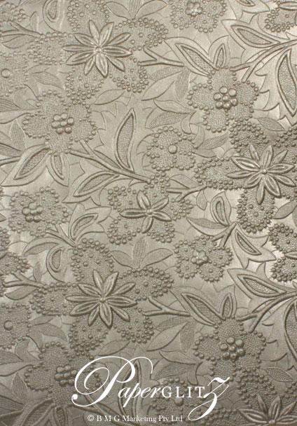 Handmade Embossed Paper - Spring Pewter Pearl Full Sheet (56x76cm)