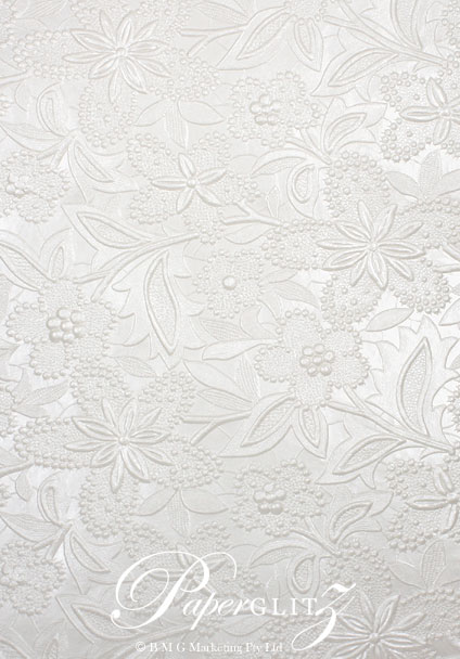 Glamour Pocket DL - Embossed Spring White Pearl