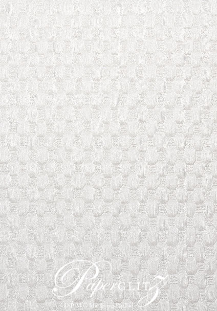 Handmade Embossed Paper - Thunder White Pearl Full Sheet (56x76cm)
